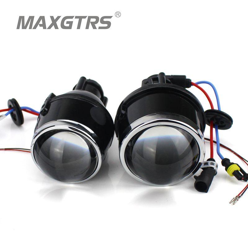 2x Universal HID Bi-xenon Fog Lights Projector Lens Driving Lamps Retrofit For Ford/ Honda CRV Fit/ Subaru/ Renualt/Suzuki Swift
