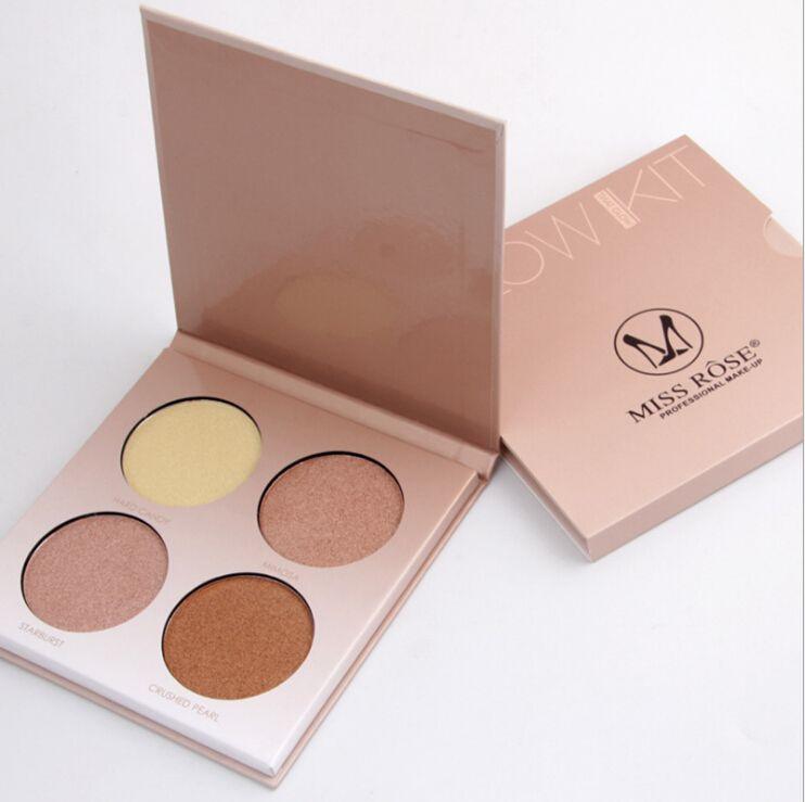 Mlle Rose Maquillage Égayer Bronzer et Surligneur 4 Couleurs Shimmer Mat Contour Lueur Kit 3D Visage Poudre Pallate Beverly Hills