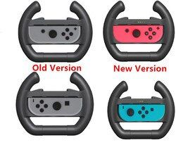 Upgrated For Nintend Switch NS Joy-Con Nintendo Controller Handle Grip Racing Game Steering Wheel With LED Indicator Left Right