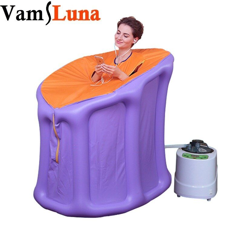 VamsLuna Tragbare Dampf Sauna mit Dampf Generator Hause Sauna Box für Abnehmen Detoxin Brennen Calaries Entlasten Schmerzen Massage