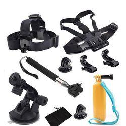 For Gopro SJCAM SJ4000 EKEN H9 Action Camera Accessories Chest Head Belt Strap Monopod Floating Bobber Mount Car suction cup