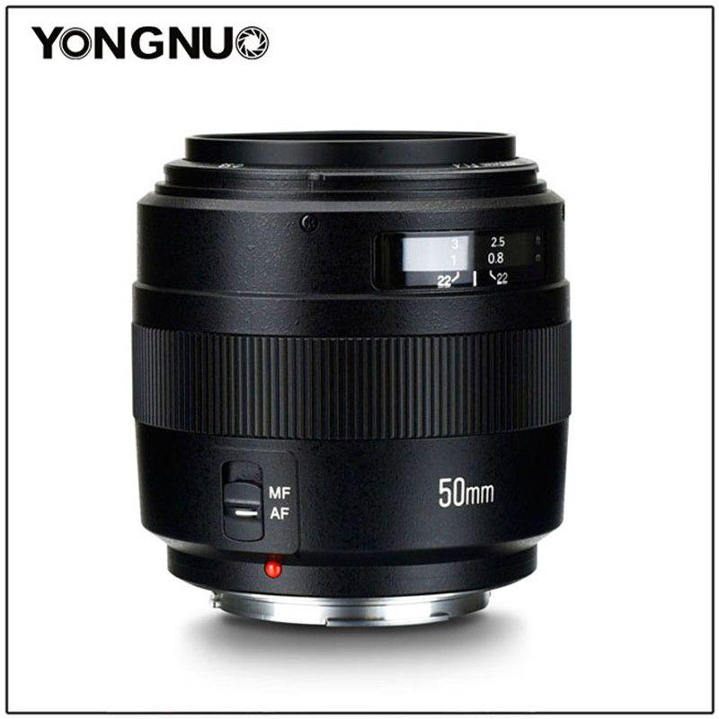 YONGNUO 50mm YN50MM F1.4 Objectif Standard Premier Grande Ouverture Auto Focus pour Canon EOS 1300D 1200D 1100D 1000D 850D 5DIV 5 DIII 5D