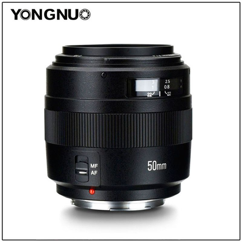 YONGNUO 50mm YN50MM F1.4 Standard Prime Lens Large Aperture Auto Focus for Canon EOS 1300D 1200D 1100D 1000D 850D 5DIV 5DIII 5D