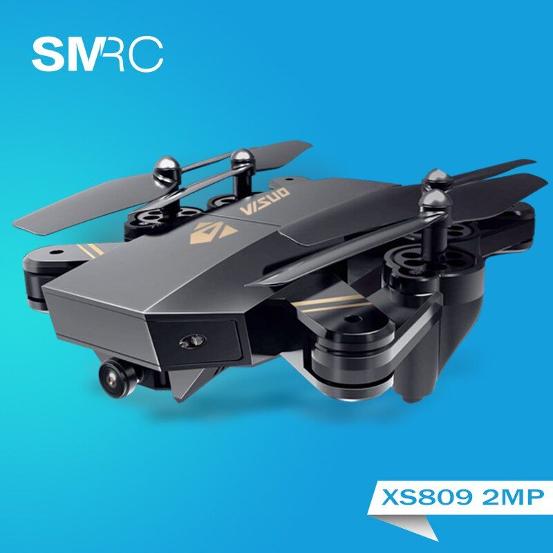 XS809W hovering racing helicopter rc drones with camera hd drone profissional fpv quadcopter aircraft luminous fun toy for boys