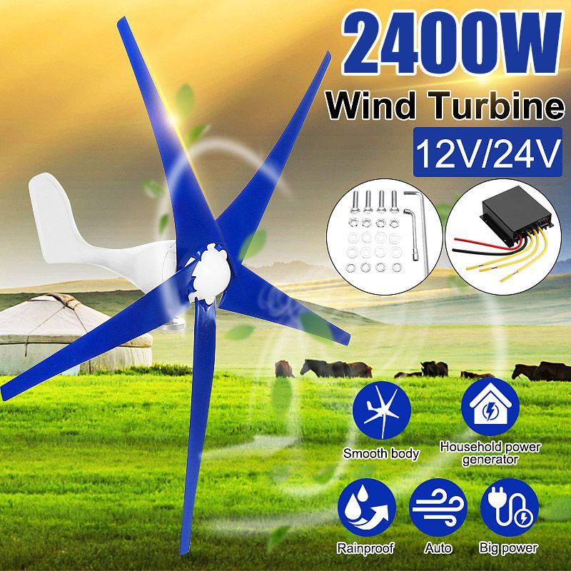 Neueste 2400 W 12 V 24 Volt Wind Turbinen Generator 3/5 Wind Klingen Power Windmühle Energie Turbinen Ladung für Home Oder Camping