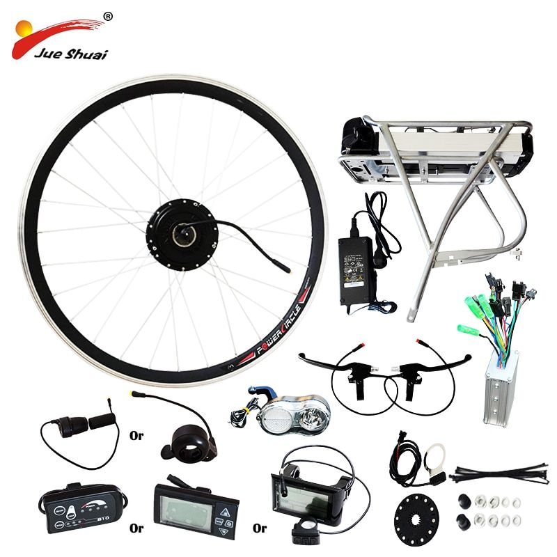 250W/350W/500W 36V-48V Rear Carrier Battery Electric Bicycle Kits Electric Bicycle Conversion Kit For 20 26 700C 28 MTB Bike