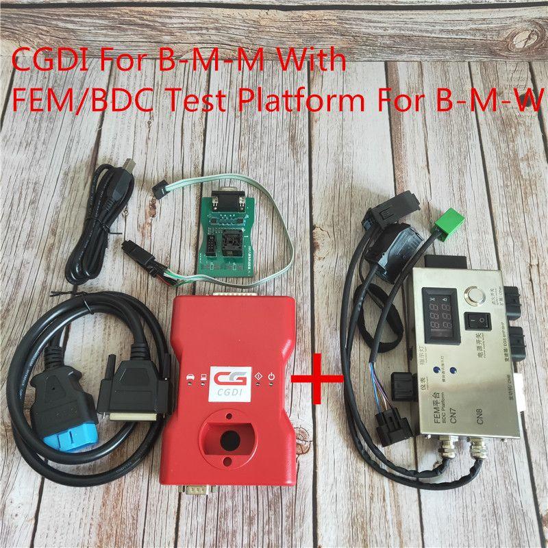 CGDI Prog für BMW MSV80 Auto Schlüssel Programmierer + FEM/BDC Test Plattform + Lesen 8 Fuß Chip Für BMW