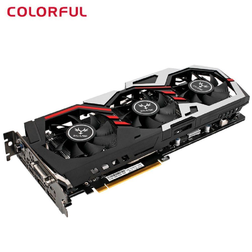 Original Bunte iGame1070 Grafikkarte U-8GD5 Top 256bit GDDR5 8 gb GeForce GTX 1070 mit HDMI/DVI /DP 1,4 Interface