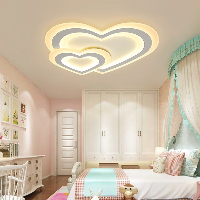 Modern LED ceiling lights for children baby bedroom dimming ceiling lamp AC110V/220V sourface mounted home decoration lighting