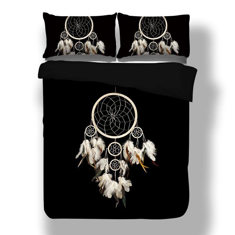 Wongs bedding feather Bedding Set Duvet Cover Queen Sizes Home Textiles 3pcs Dropship