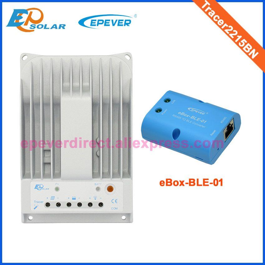 MPPT 20A 20amp solar panel regler für 260 watt 12 v 520 watt 24 v panel system heimgebrauch Tracer2215BN + bluetooth funktion für anschluss