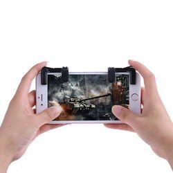 VODOOL 2 piezas teléfono móvil juego joystick Gamepad para PUBG STG FPS TPS disparador Botón de fuego juego de tiro objetivo clave l1R1 controlador
