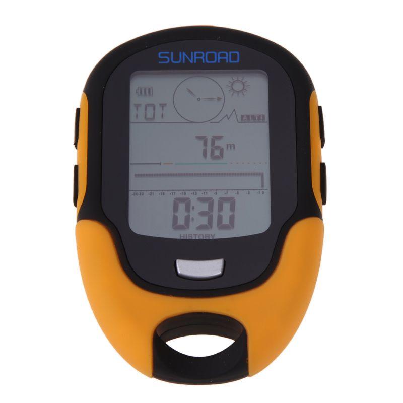 Promotion Waterproof Compass FR500 Multifunction LCD Digital Altimeter Barometer Compass for Outdoor Activities 300mAh battery