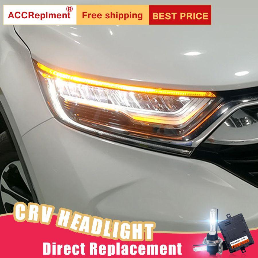 2 Pcs LED Scheinwerfer Für Honda CRV 2017-2019 led auto lichter Engel augen ALLE LED KIT Nebel lichter LED Tagfahrlicht