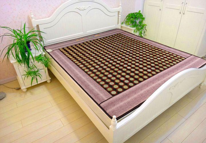 Healthcare tourmaline thermal jade heating mattress electric korea heating massage jade mattress body care Free Gift eye cover