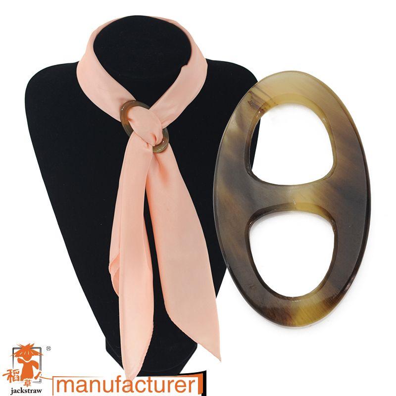 Hight qualité fabricants corne boucle foulard de soie téter différents couleur personnalité style