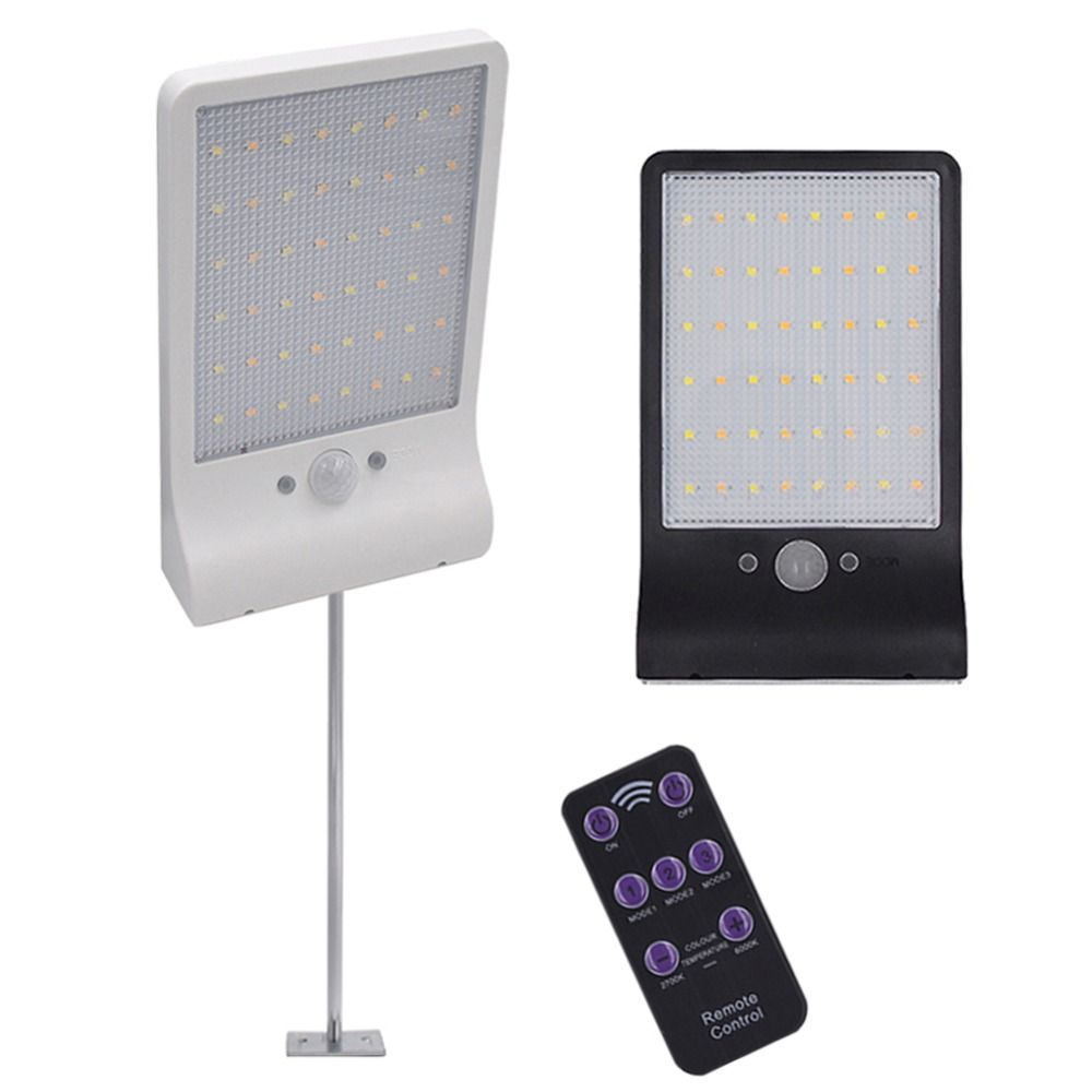 48 LED Lampe Solaire Motion Sensor Wall Light Cour Extérieure Jardin Garage Sécurité Lampe Étanche Solaire Rue Lumière
