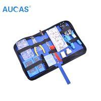 Aucas кабель Ethernet инструмент RJ11 RJ45 Cat5 Cat6 Обжимной Сетевой кабель обжимной инструмент набор щипцы Клещи инструмент набор комплект сети сумка д...