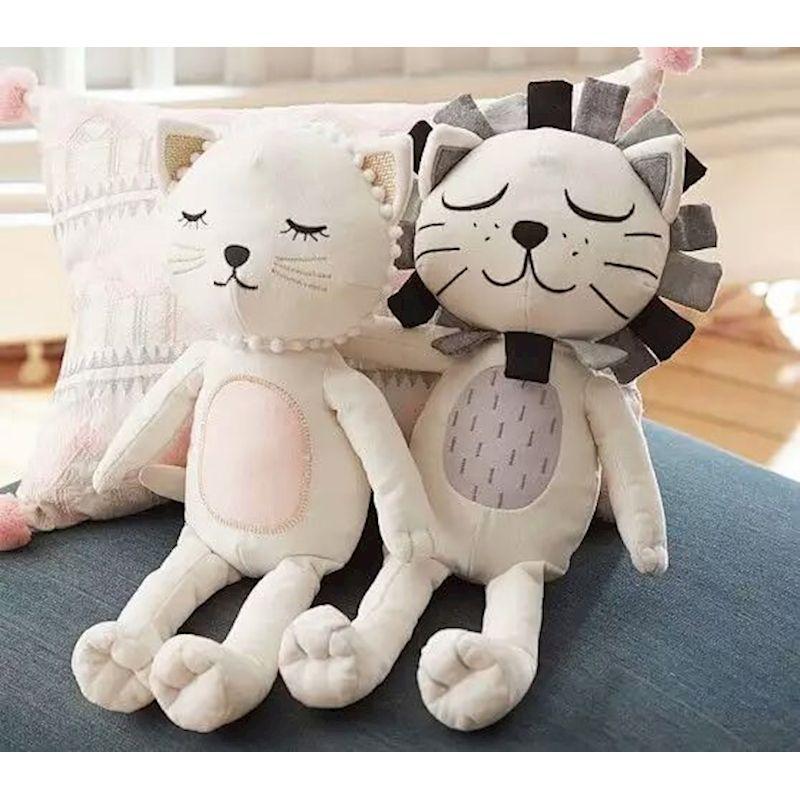 Enfants jouets en peluche filles garçons Lion chat poupées enfants chambre oreiller décoratif coussin bébé photographie accessoires almohadilla