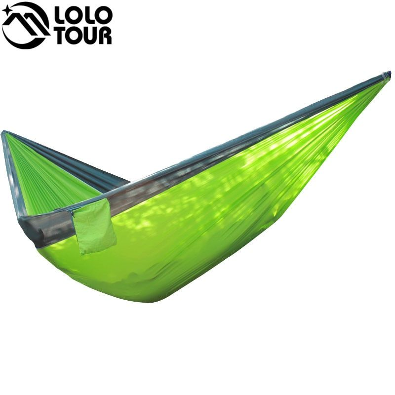 320*200cm Ultra-Large 2-3 People Sleeping Parachute Hammock Chair Hamak Garden Swing Hanging Outdoor  Hamacas Camping 125*78''