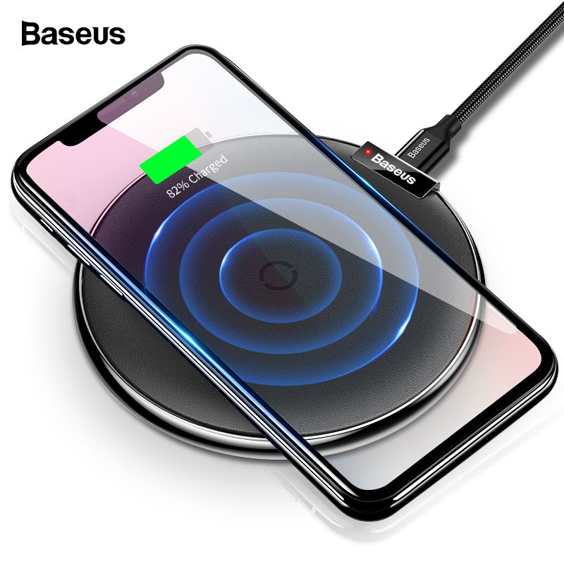 Baseus Wireless Charger For iPhone Xs Max XR X Fast USB Wireless Charging Pad For Xiaomi mix 3 2s Doogee S60 Qi Wireless Charger