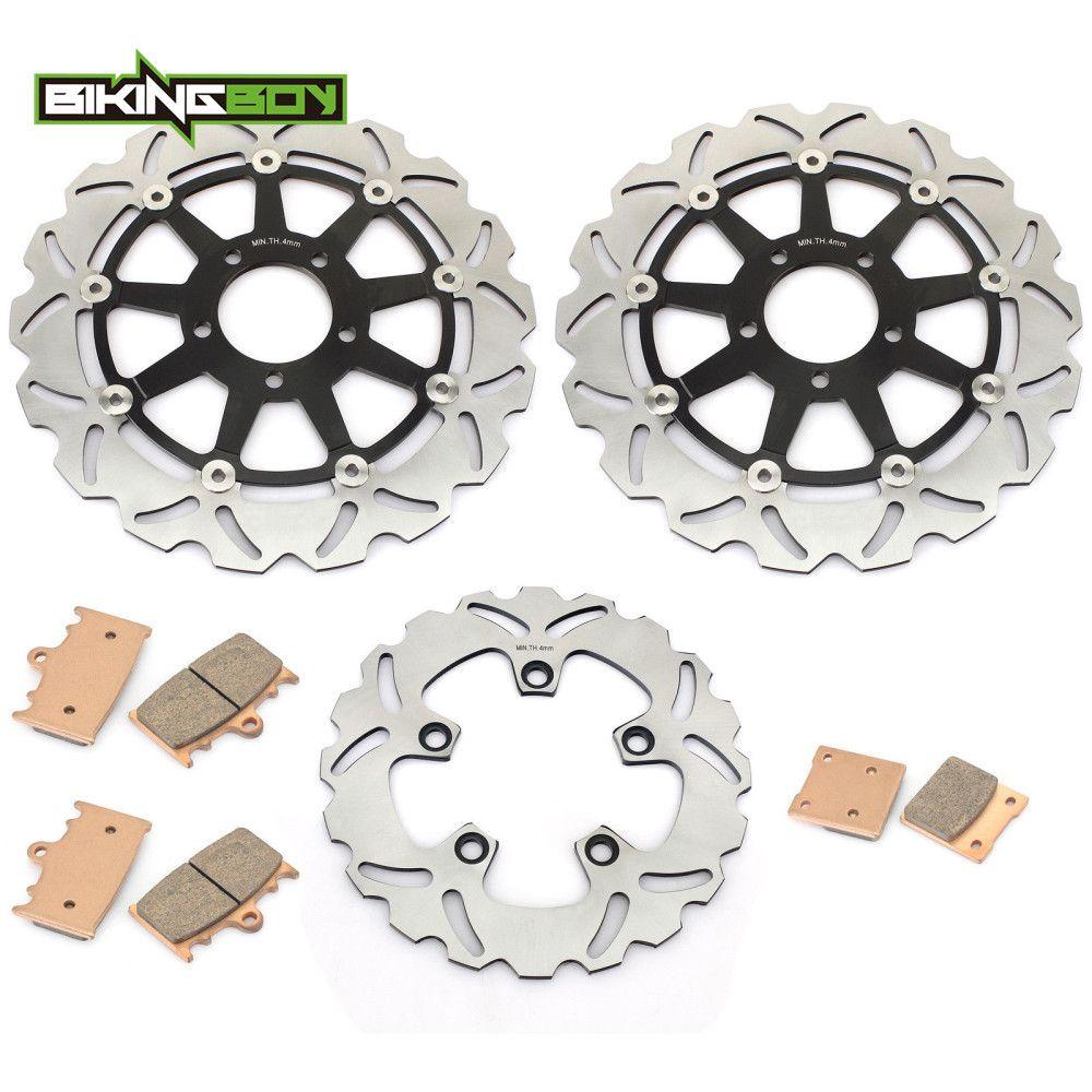 BIKINGBOY Vorne Hinten Bremsscheiben Scheiben Rotoren Pads Für Suzuki GSXR 600 97-03 GSX-R 750 2000 2001 2002 2003 TL1000S 1997-01 98 99