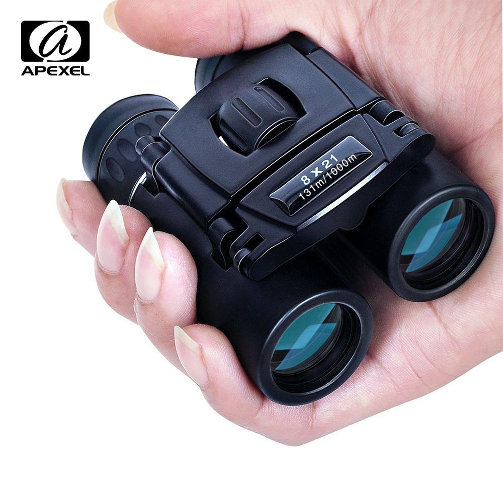 APEXEL 8x21 jumelles Zoom Compact longue portée 1000 m pliant HD puissant Mini télescope BAK4 FMC optique chasse sport Camping