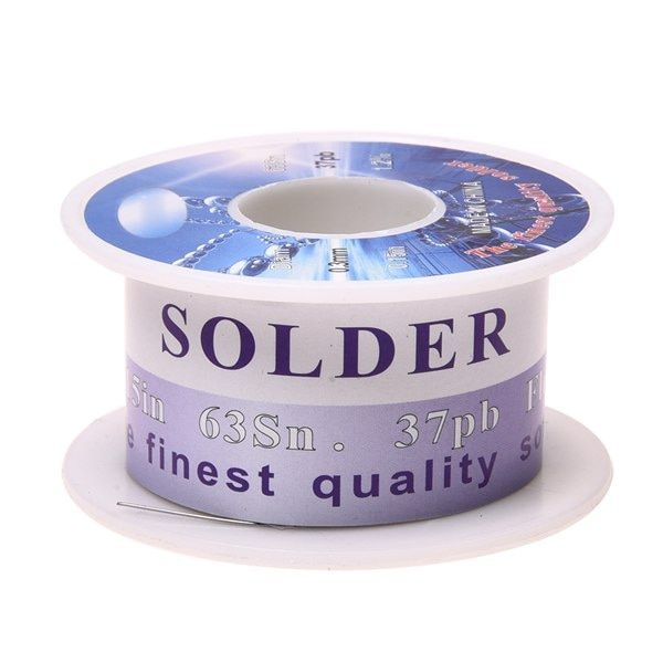 IMC Hot Solid Solder 0.3mm Flux Core 63% Tin 37% Lead Long Wire Reel