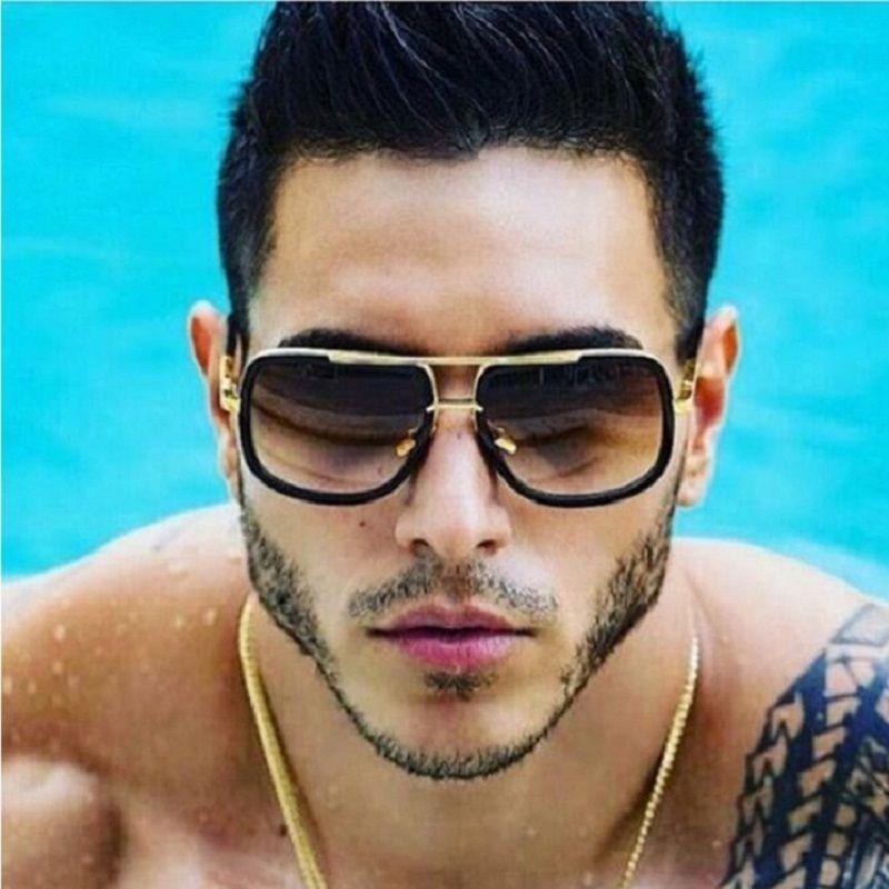 VictoryLip Fashion Square Sunglasses Men Women Luxury Brand Designer Celebrity Sun Glasses Male Driving Superstar Female Shades