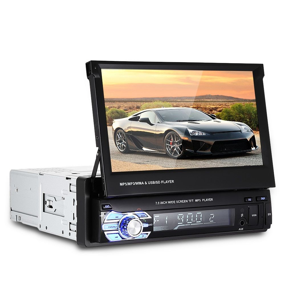 Universal 9601 7.0 inch Touch Screen Bluetooth FM Radio MP5 Car Multimedia Player with Steering Wheel Control