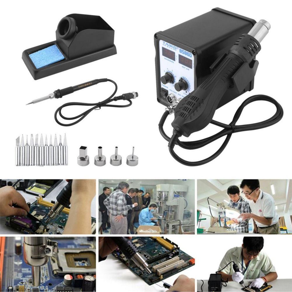 450 watt 2 In 1 Temperatur Schweiß Solder Station Wärme Bleistift Heißer Luft Lötkolben Heizung Element Ständer Schweiß Reparatur tool Kit