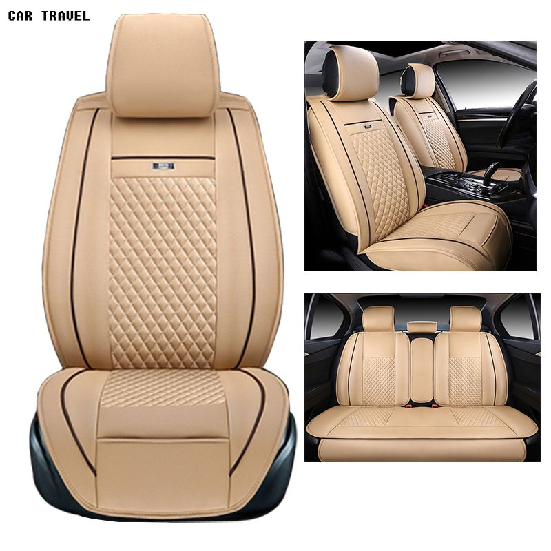 pu leather Universal car seat Cover for Toyota Corolla Camry Rav4 Auris Prius Yalis Avensis 2014 sticker accessories car-styling