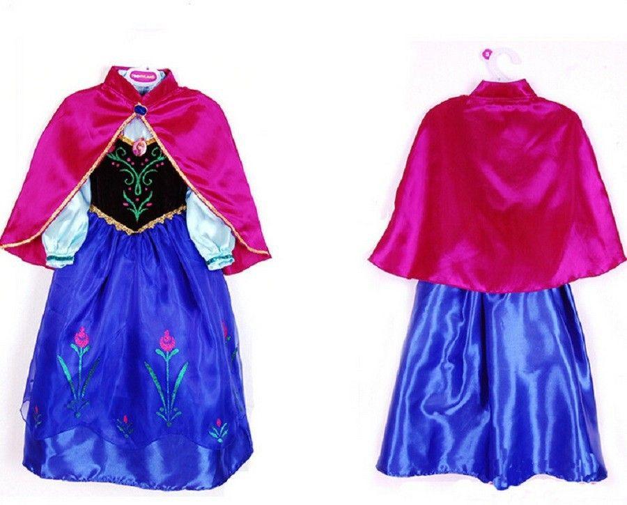 2017 Girls Dress Kids Anna Elsa Party Dresses For Girls Children Costume Baby Child Clothing Dresses Princess Clothes Vestido