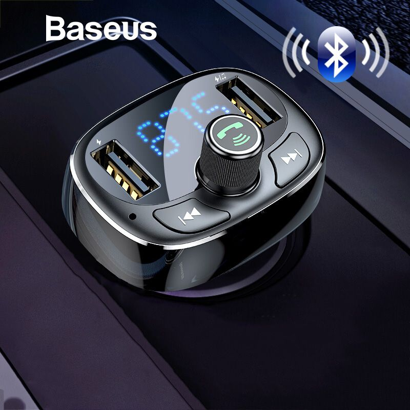 Chargeur de voiture Baseus transmetteur FM modulateur Aux Bluetooth mains libres voiture Audio lecteur MP3 3.4A rapide double USB chargeur de téléphone portable