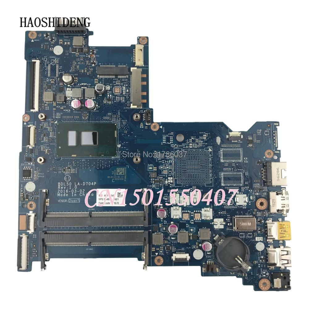 HAOSHIDENG 854934-501 854934-601 LA-D704P For HP Notebook 15-AY 15-AC series Laptop Motherboard with i7-6500U CPU, fully Tested!