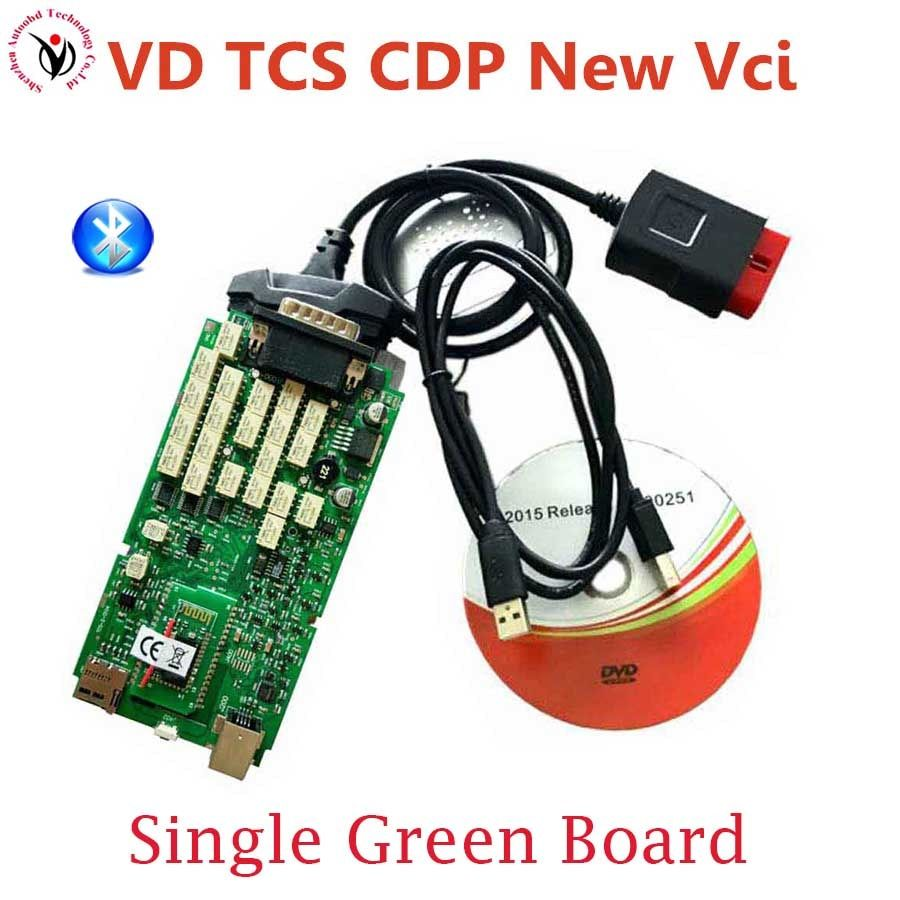 New Vci VD TCS CDP Bluetooth OBD2 Diagnostic Interface Single Board SN100251 OBD OBD2/OBDII Auto Diagnostic Scanner Tool