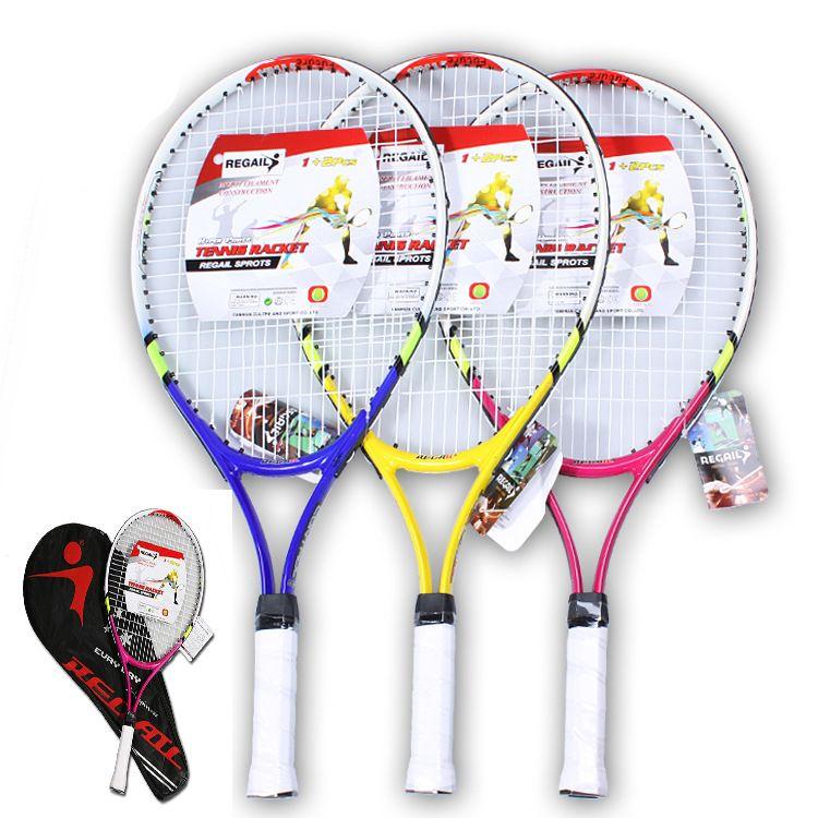 Hohe Qualität 1x Neue Junior Tennisschläger Raquette Ausbildung Schläger für Kinder Jugend Kinder Tennisschläger mit Tragetasche Heißer