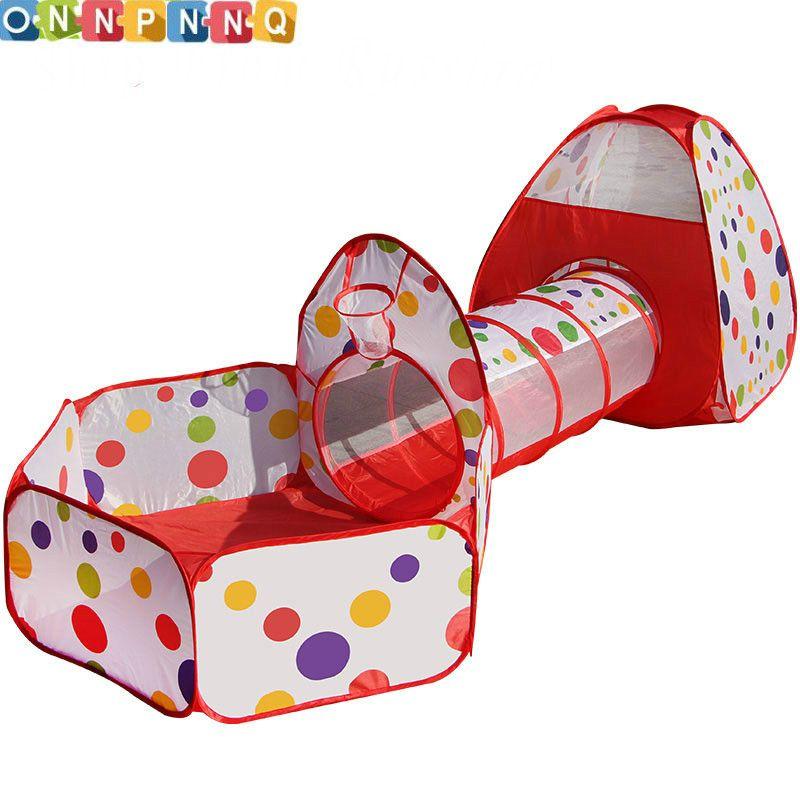 Multicolore bébé tente pour enfants pliable jouet enfants en plastique maison jeu piscina de bolinha jouer tente gonflable cour Piscine À Balles