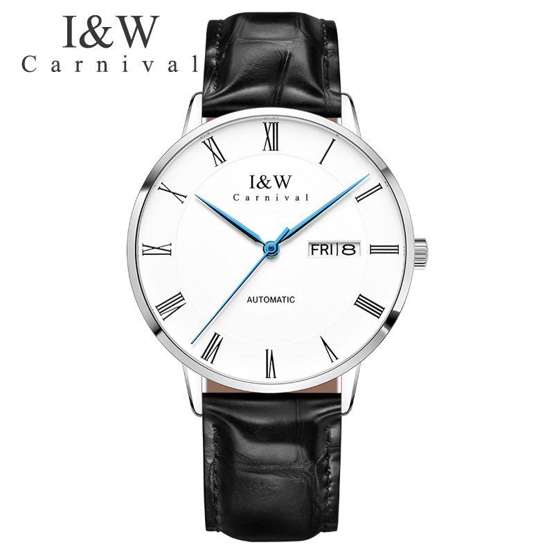 Carnival Automatic Watch Men Mechanical Watches Seiko Movement Mens Wristwatch Waterproof Male Clock New erkek kol saati 2018