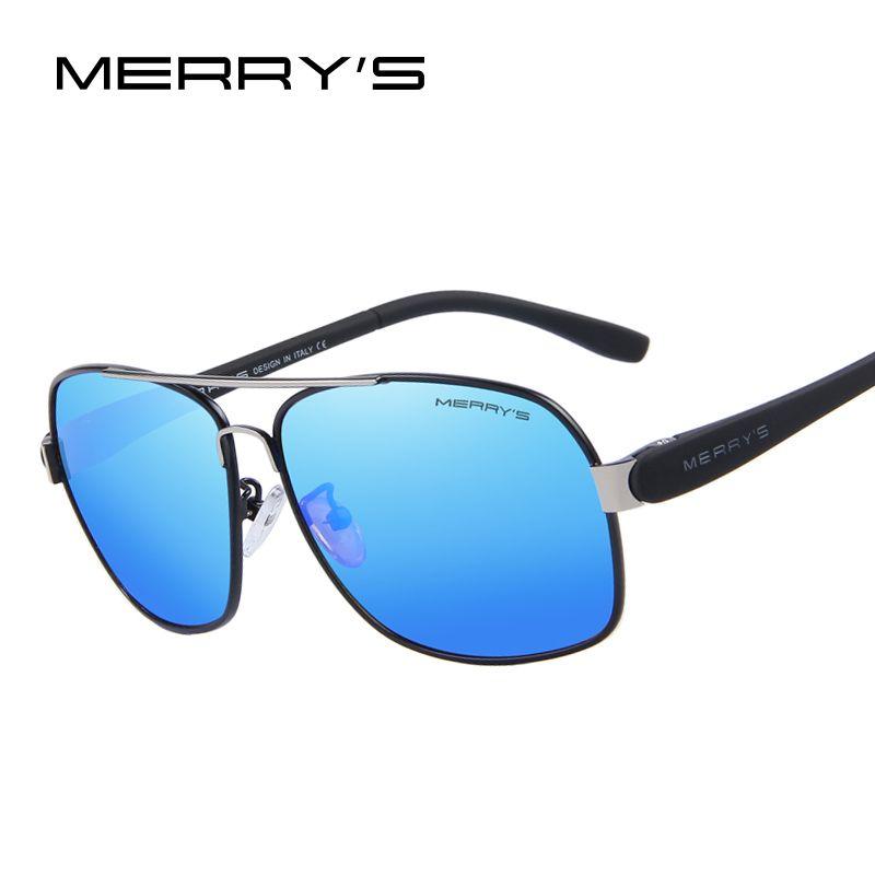 MERRY'S Men's TR90 Fashion Sunglasses Polarized Color Mirror Lens Eyewear Accessories Driving Sun Glasses S'8501