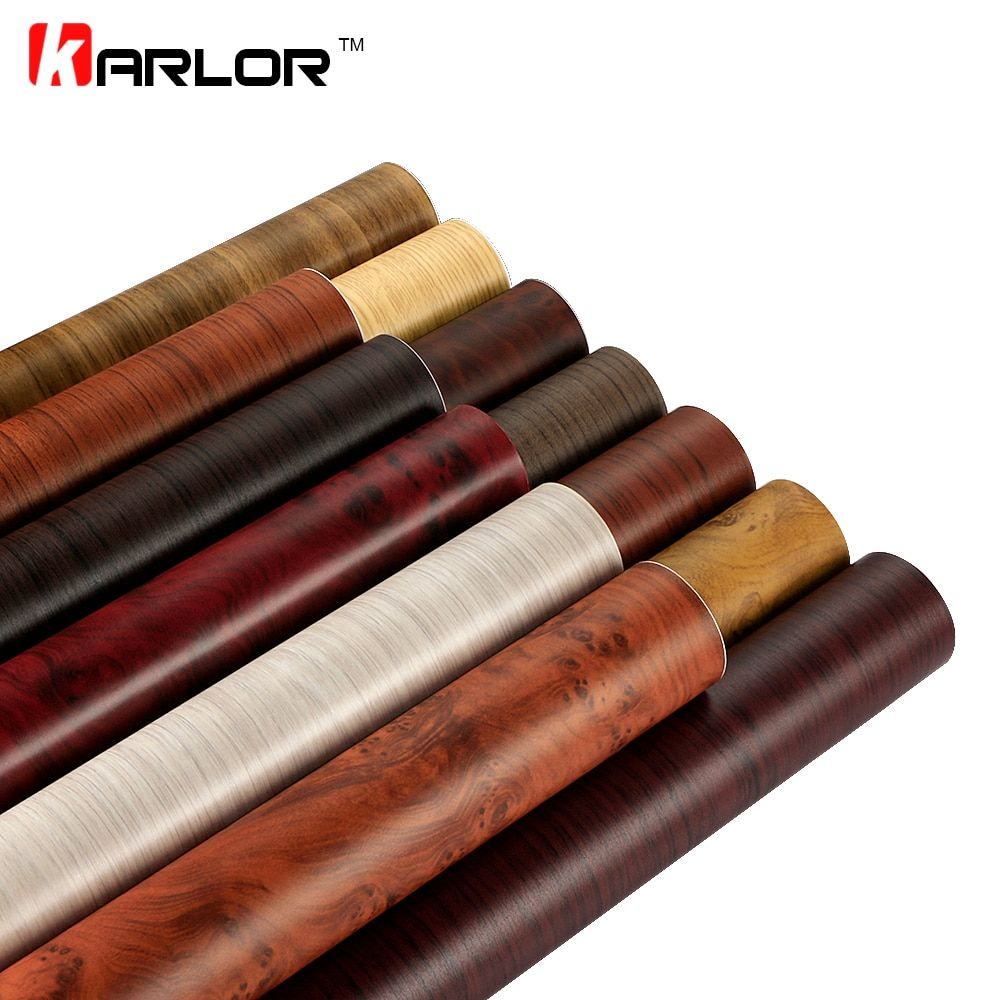 30*200cm Matte Self-adhesive Wood Grain Textured Vinyl Film Car Interior Decoration Sticker Furniture Wood Grain Paper Film