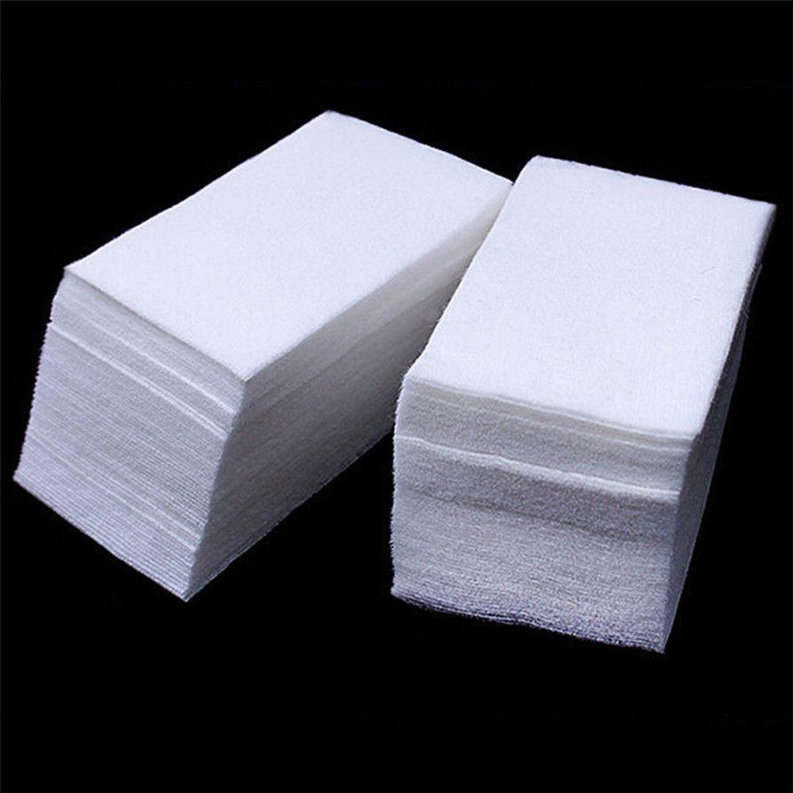 900PCS Lint Free Nail Art Gel Polish Remover Cotton Pad Nail Wipe drop shipping 0815