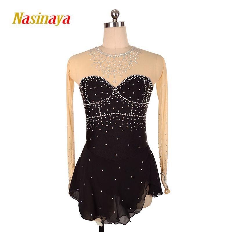 Nasinaya Eiskunstlauf Kleid Customized Wettbewerb Eislaufen Rock für Mädchen Frauen Kinder Patinaje Gymnastik Leistung 31