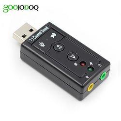 7.1 Externe USB Carte Son USB à Jack 3.5mm Casque Audio Adaptateur Micphone Carte Son Pour Mac Gagner Compter Android Linux