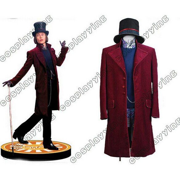 Charlie and the Chocolate Factory Cosplay Costume Johnny Depp Willy Wonka Cosplay Costume Halloween Costumes For Adult Men