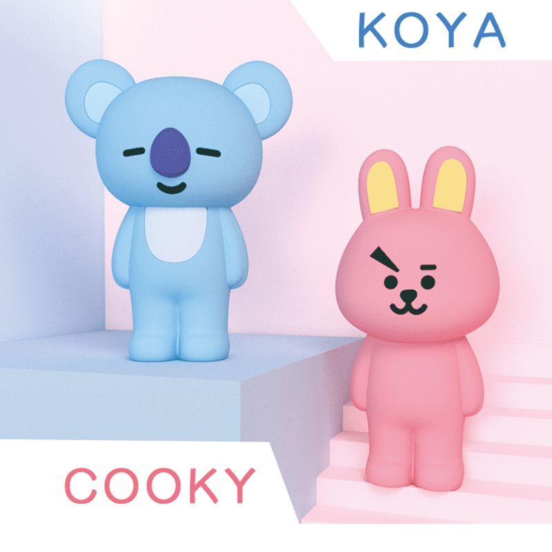 Q ONCLE Kpop Bangtan Garçons BTS BT21 Corée Homme Équipe de Multi Fonction Souple En Silicone Cadeau Cooky Crayon Cas pour 4.7 pouces Téléphone