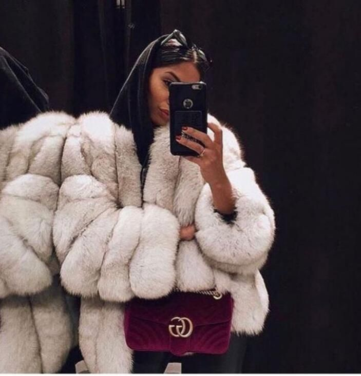 Neue 2019 charming Frauen Luxus Natürliche fuchs pelz mäntel und jacken verdicken vertikale oanels attraktive winter Echt pelz mäntel