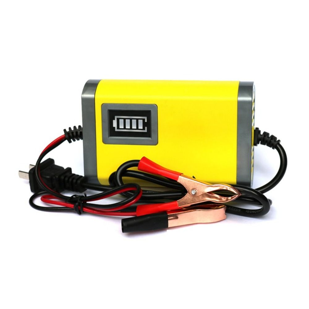 Mini Portable 12V 2A Car Battery Charger Adapter Power Supply Motorcycle Auto Smart Battery Charger LED Display