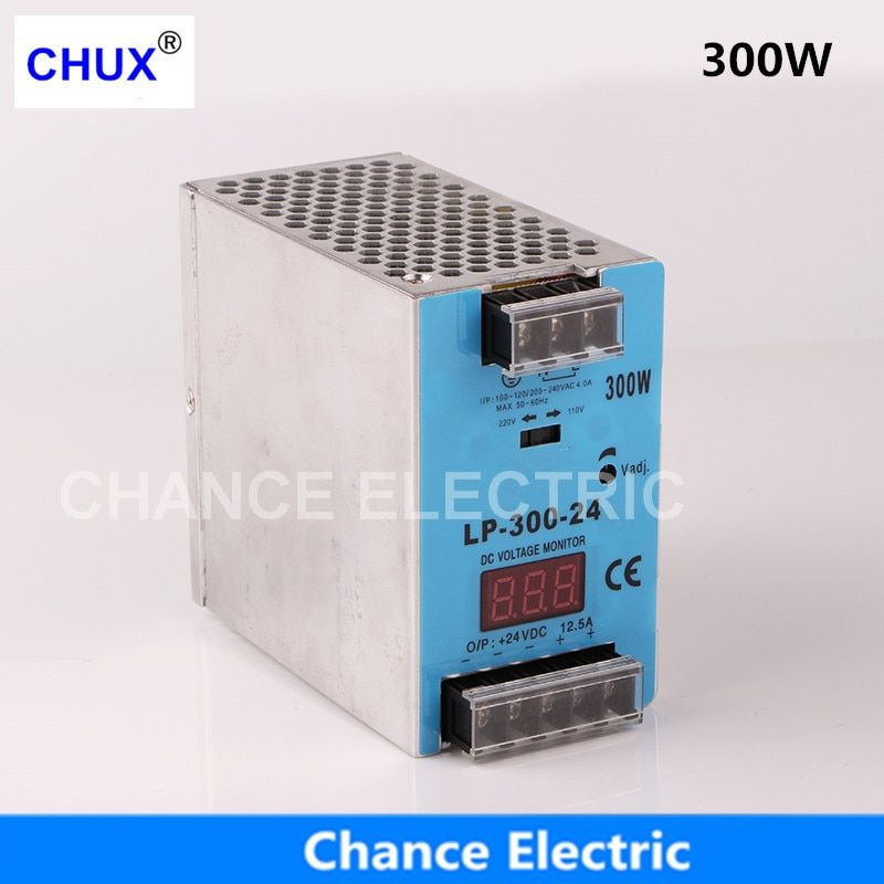 24V 12V digital display Switching Power Supply 300W Mini size Din Rail Single Output 100-240V input LP.300W Power Suppliers