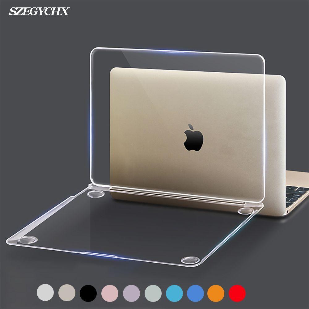 Cristal Ordinateur Portable étui pour Macbook Touch ID A1932 2018 housse Pour Macbook Air 13 A1466 A1369 Pro Retina 11 12 13 15.4 15 Coquille Dure